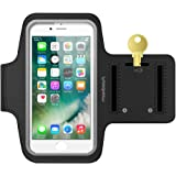 Maxboost Armband [Original] For Small Cellphone, iPhone x , iPhone 7, iPhone 6 6S SE 5s 5 5c, Galaxy s8 S7 S6, HTC One A9, LG,Nokia; Universal Exercise Running Pouch Key Holder +Fit Most Case -Black