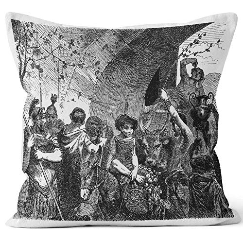 - Nine City Roman Market Place Home Decorative Throw Pillow Cover,HD Printing Square Pillow case,24