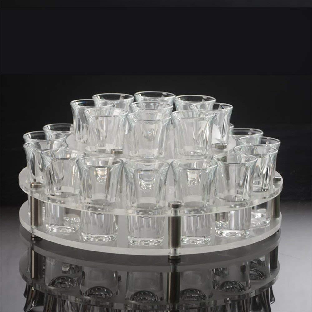 Porte-vin Casier à vin Européen Casier à vin Acrylique Transparent 2 couches de bureau Durable Scrub Durable Tasse Applicable et Coupe du Stylo Porte-bouteilles kxrzu