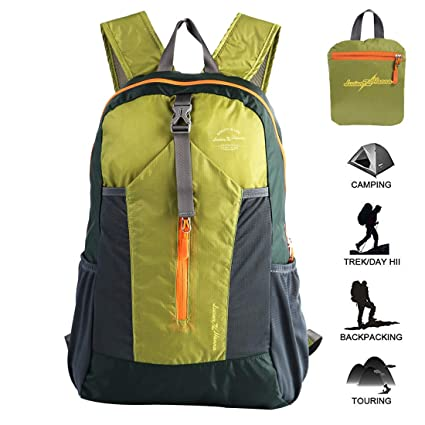 1ed77fefa Ultra Lightweight Packable Water Resistant Travel Hiking Backpack Handy  Foldable Daypack 20L