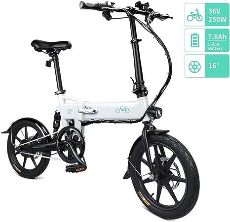 FIIDO D2/D2S Bicicleta Eléctrica Plegable, 7.8Ah 36V E-Bike 250W ...