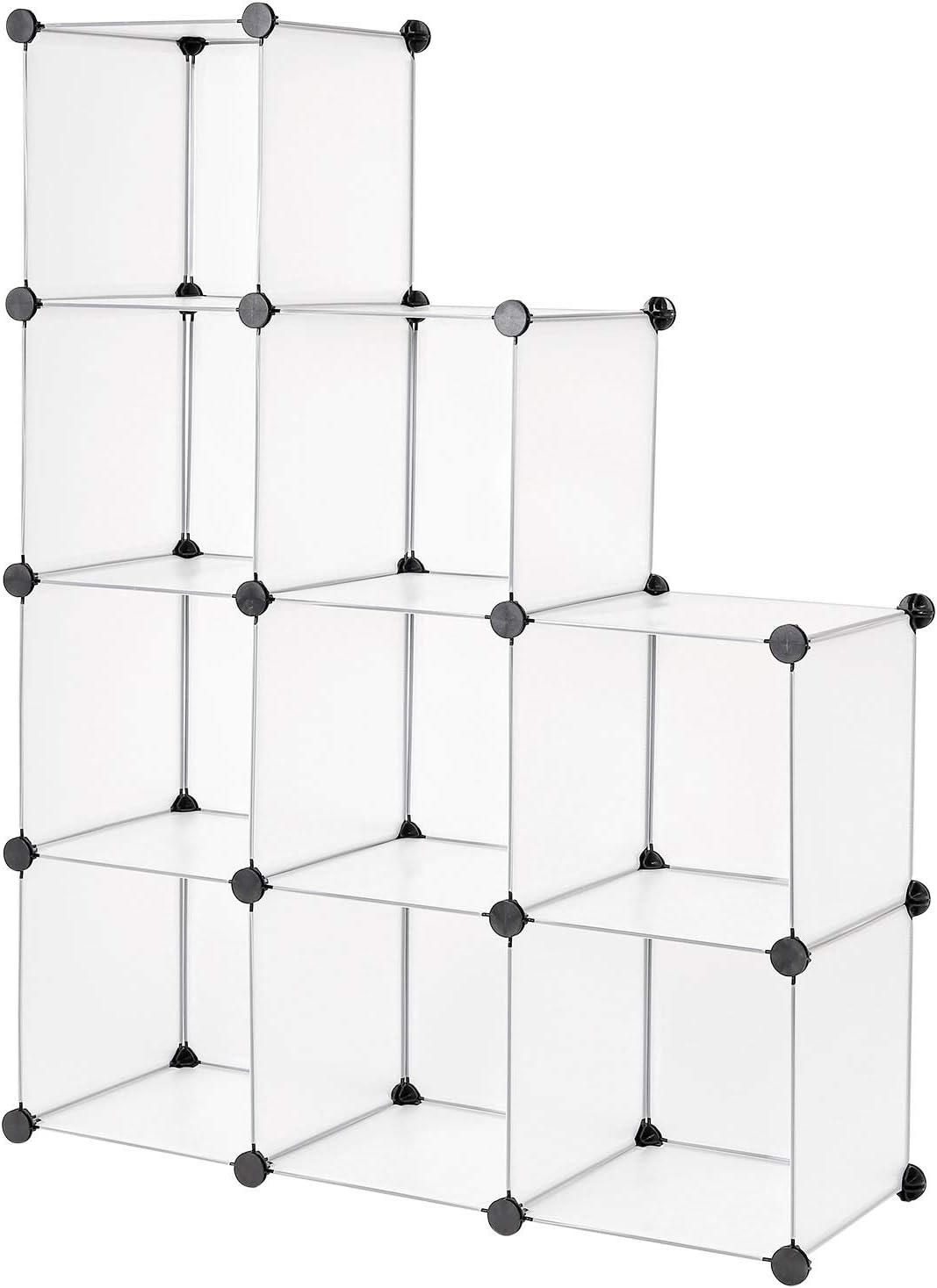 Dibea Modular, Armario, Sistema de estantería, Zapatero, 9 Compartimentos, 9 Fächer, 30 x 30 cm