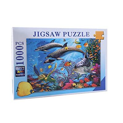JUGROUPE 1000 Pieces Large Jigsaw Puzzles for Adults, 30×20 Inch Puzzles for Children and Teens Ages 12 and up, Difficult Puzzle Art for Men and Women ( Ocean Animals )…: Toys & Games