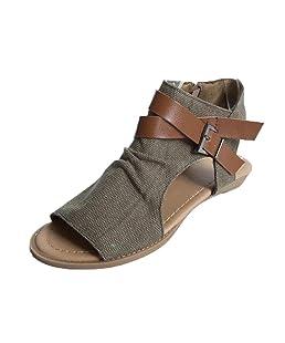 UOMOGO® Estive Donna Moda Sandali Comfort Toe Sandali Scarpe Camminare Piattaforma (Asia 39, caffè)