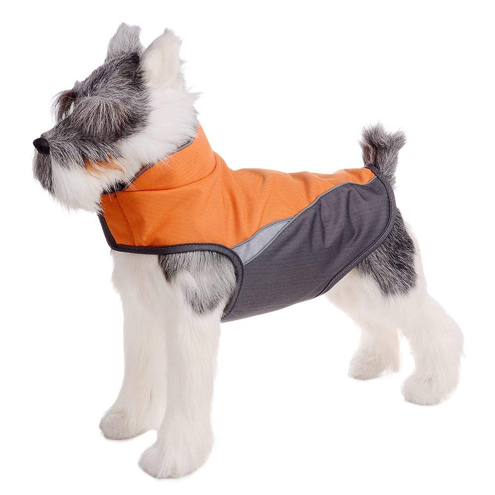 orange S(Chest 17.32-21.55\ orange S(Chest 17.32-21.55\ FOREYY Dog Jacket with Waterproof Outer Layer and Warm Fleece Inner Layer Reflective Dog Pet Winter Coat Vest Apparel for Small Medium and Large Dogs(orange,S)