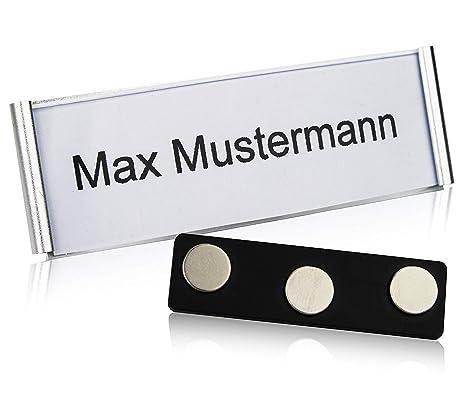 f632816b0117 GOODMAN Wallstreet badge nome in alluminio magnetico [10 pezzi] con magnete  a 3 punti