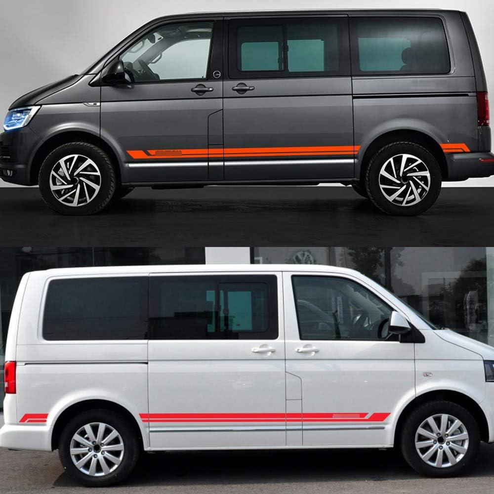 para VW Multivan T5 T6 personalizaci/ón de autom/óviles Auto Pegatinas de Calcoman/ías Body Stripe Lateral calcoman/ías de pel/ícula de Vinilo para autom/óviles dise/ño de autom/óviles