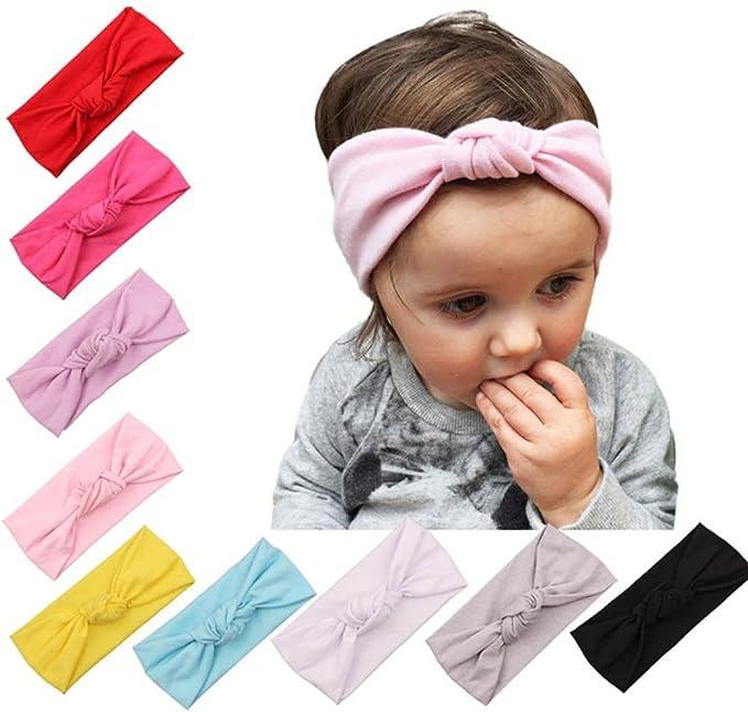Baby Toddler Kids Girls Bow Hairband Turban Knot Cotton Cute Headband HeadwearCN