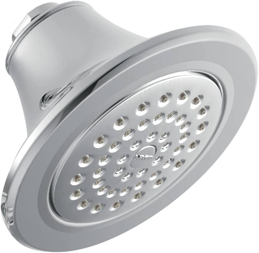 Moen S6312 Icon 5-7 8 One-Function Showerhead with 2.5 GPM Flow Rate, Chrome