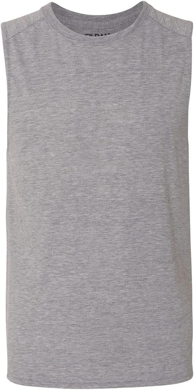 G427 -ROYAL -2XL-12PK Sleeveless T-Shirt Gildan Mens Performance 4.5 oz