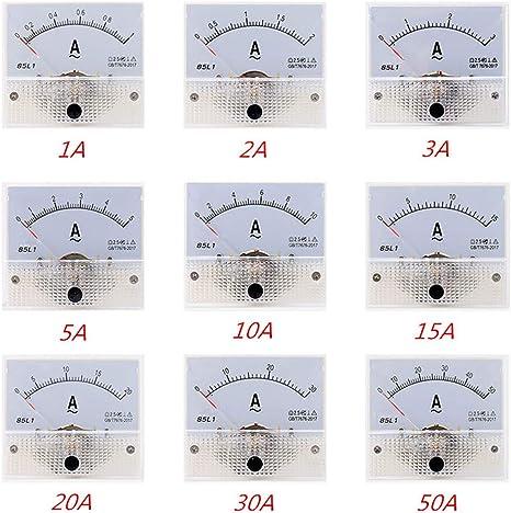 UNTERING 85L1 AC Panel Meter Analog Panel Ammeter Dial Current Gauge Pointer Ammeter