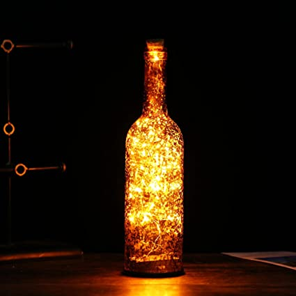 home wine room lighting effect. Wine Bottle Light LED Starry String Lights Kit (Glass \u0026 Cork Included) Home Room Lighting Effect