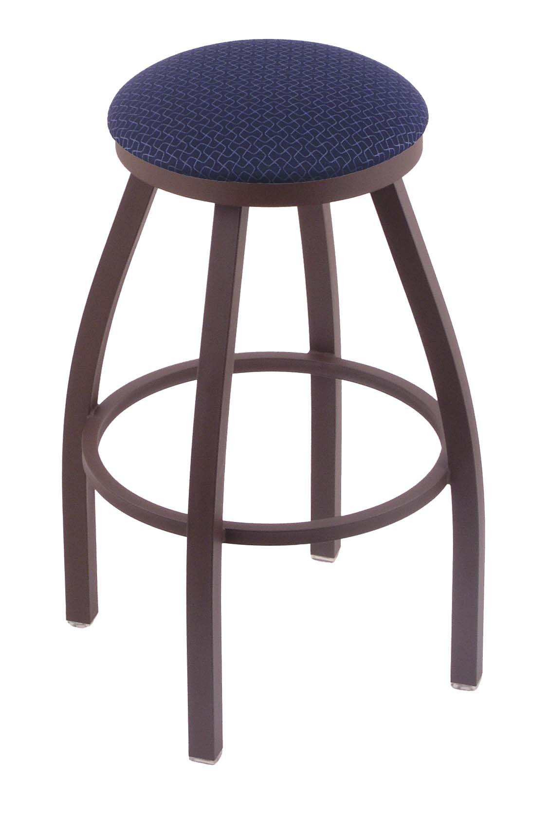Holland Bar Stool Co. 802 Misha 25'' Counter Stool with Bronze Finish and Swivel Seat, Axis Denim by Holland Bar Stool Co.