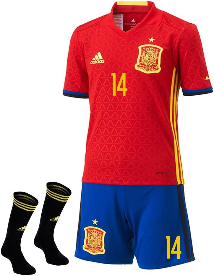 Adidas ISCO #14 España Casa Mini Kit UEFA Euro 2016 (Tamaño De Los EE.UU) (4T): Amazon.es: Deportes y aire libre