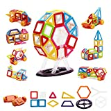 76PCS Magnetic Building Blocks, Magnetic Tiles, educational building set, Creative and Educational Gift for Toddlers,Preschools and Kids (76pcs)