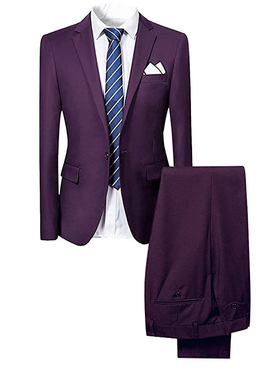 Cloudstyle Traje suit hombre 2 piezas chaqueta pantalón traje al estilo occidental