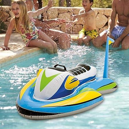Flotadores inflables de Piscina para dirigibles para niños pequeños, Moto acuática Hinchable para niños Flotador de natación Juguetes inflables de Agua para niños, 117 x 77 cm: Amazon.es: Juguetes y juegos