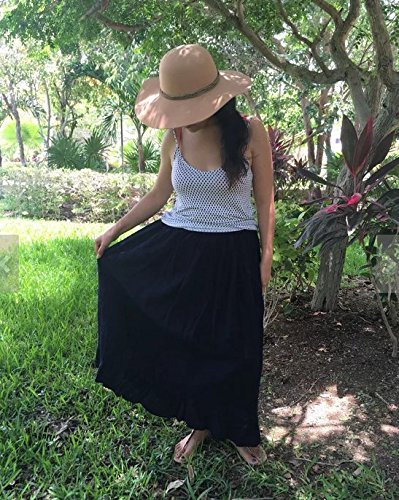 Mexican navy blue maxi long skirt by Italivii Shop