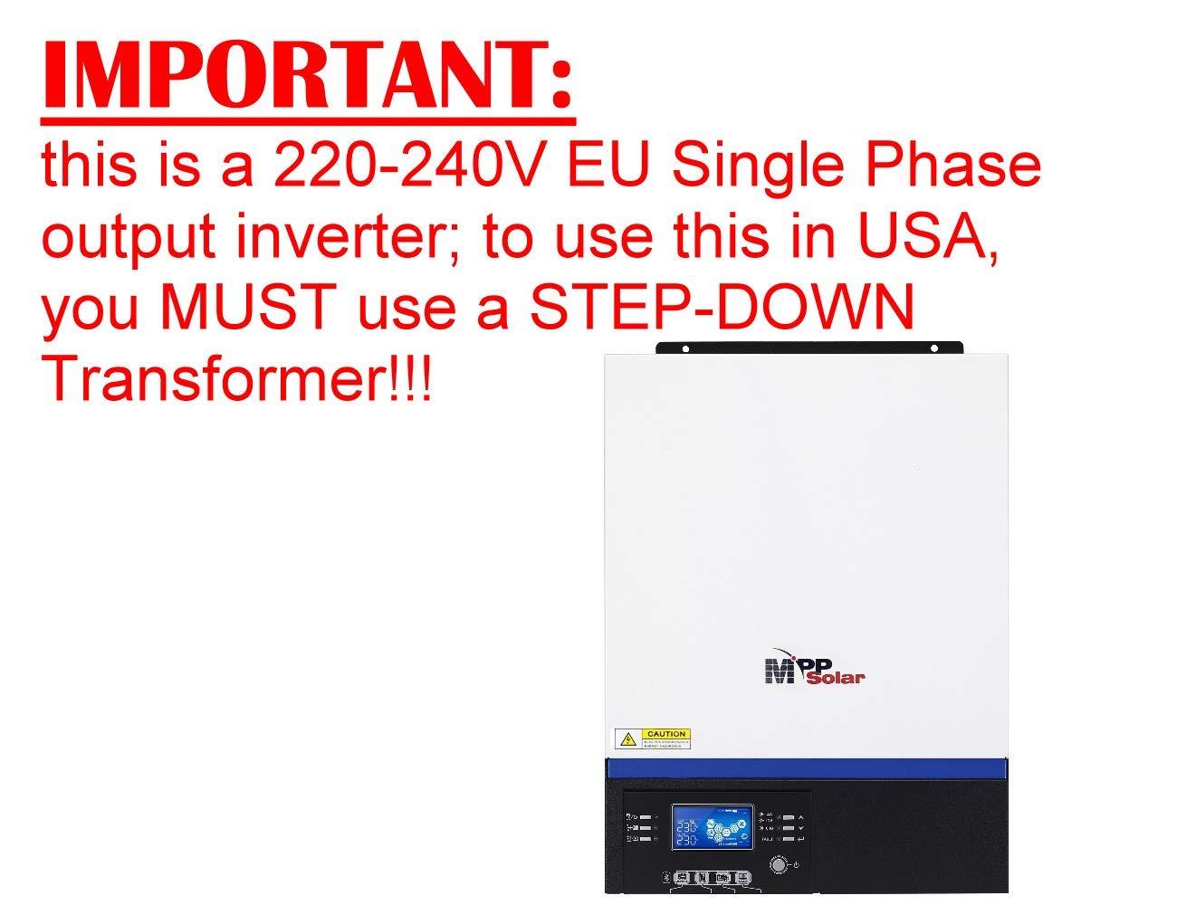 Amazon.com: MPP SOLAR - Inversor solar de onda sinusoidal ...