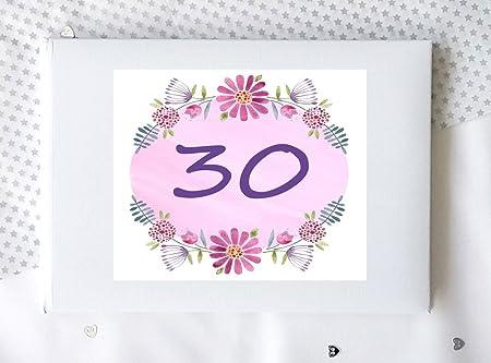 30th cumpleaños libro, 30th regalo de cumpleaños, 30th ...