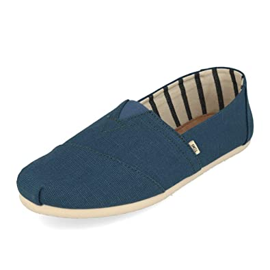 b641a9d6563 Image Unavailable. Image not available for. Color  TOMS Men s Venice  Collection Alpargata Airforce Blue Heritage Canvas ...