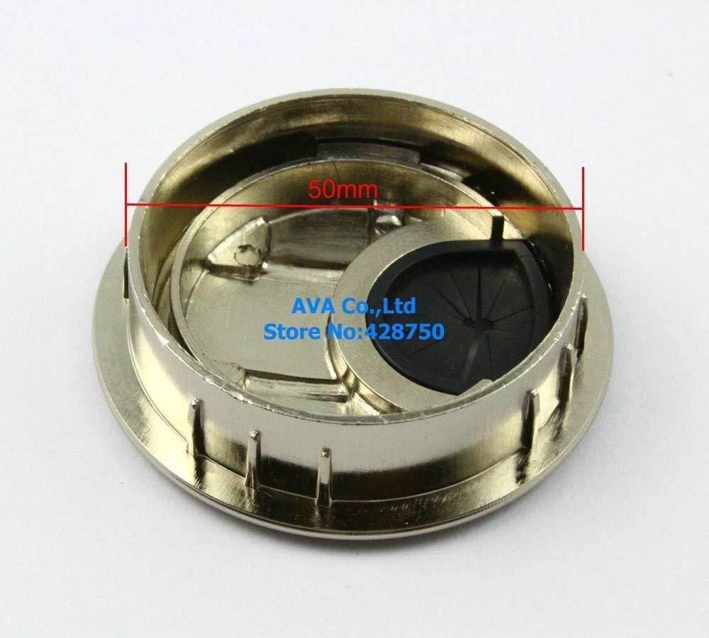 Ochoos 50 Pieces Metal Computer Desk Table Cable Grommet Hole Cover Wire Grommet / 50mm