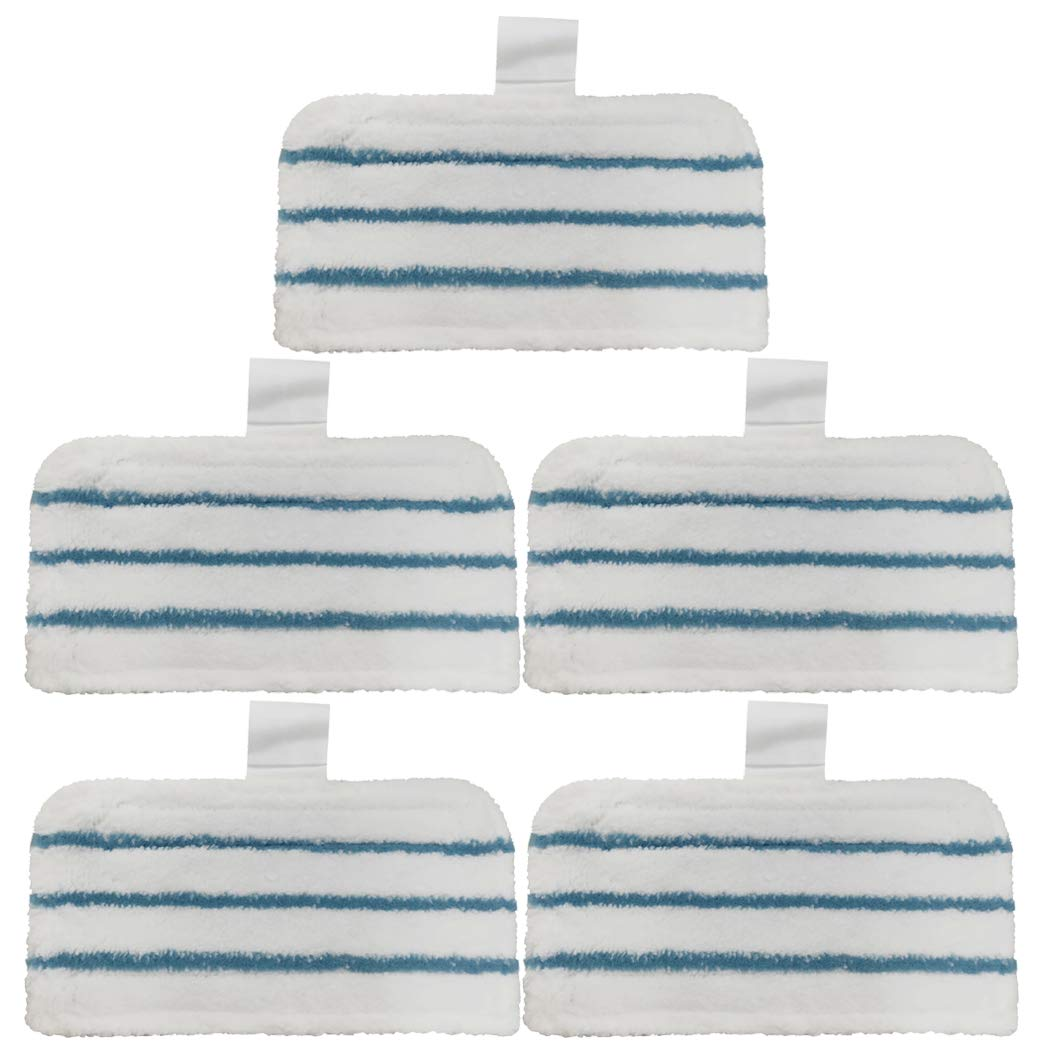 Ugardo 5 Pack Washable Pads Replacement/Compatible for Black + Decker Steam Mop Compatiable 1600 Series, HSMC1300FX HSMC1321 HSMC1361SGP BDH1855SM BDH1760SM BDH1765SM BDH1720SM BDH1725SM