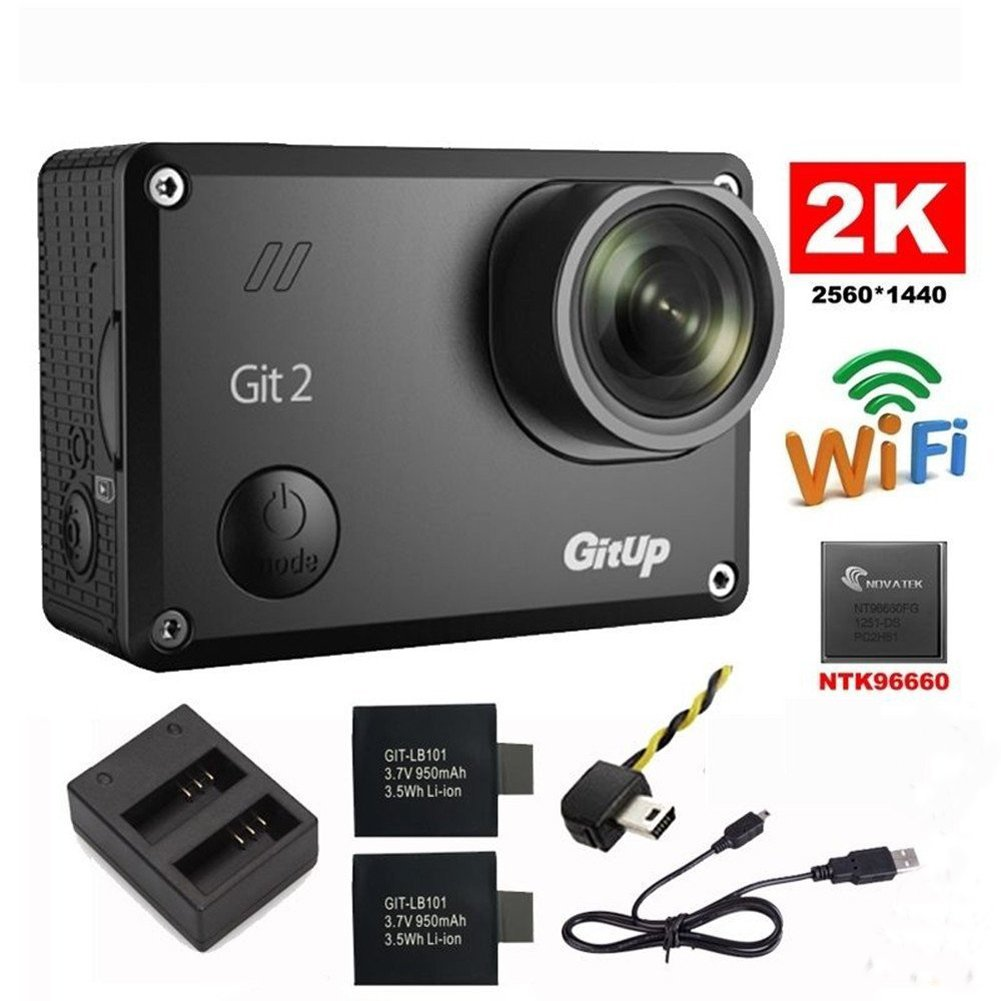 Riyc GitUp Git2 2 K 30fps Novatek 96660 1080P 60fps Full HD WiFi cámara al aire libre impermeable Apoyo G-Sensor