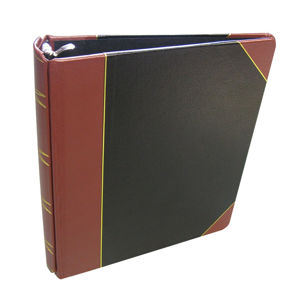 Corpkit Corporate Records, 3 Ring Minute Book: 1/4 Bind Leather Binder, 8.5 x 11, 100 sheets Minute paper