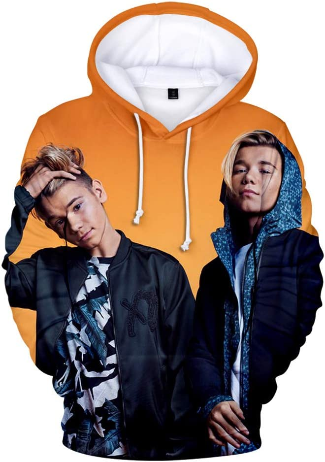 KJYAYA 3D Sweatshirt Marcus And Martinus Hoodie Hooded Sweatshirt Long Sleeve Pullover Suitable For Adult Children
