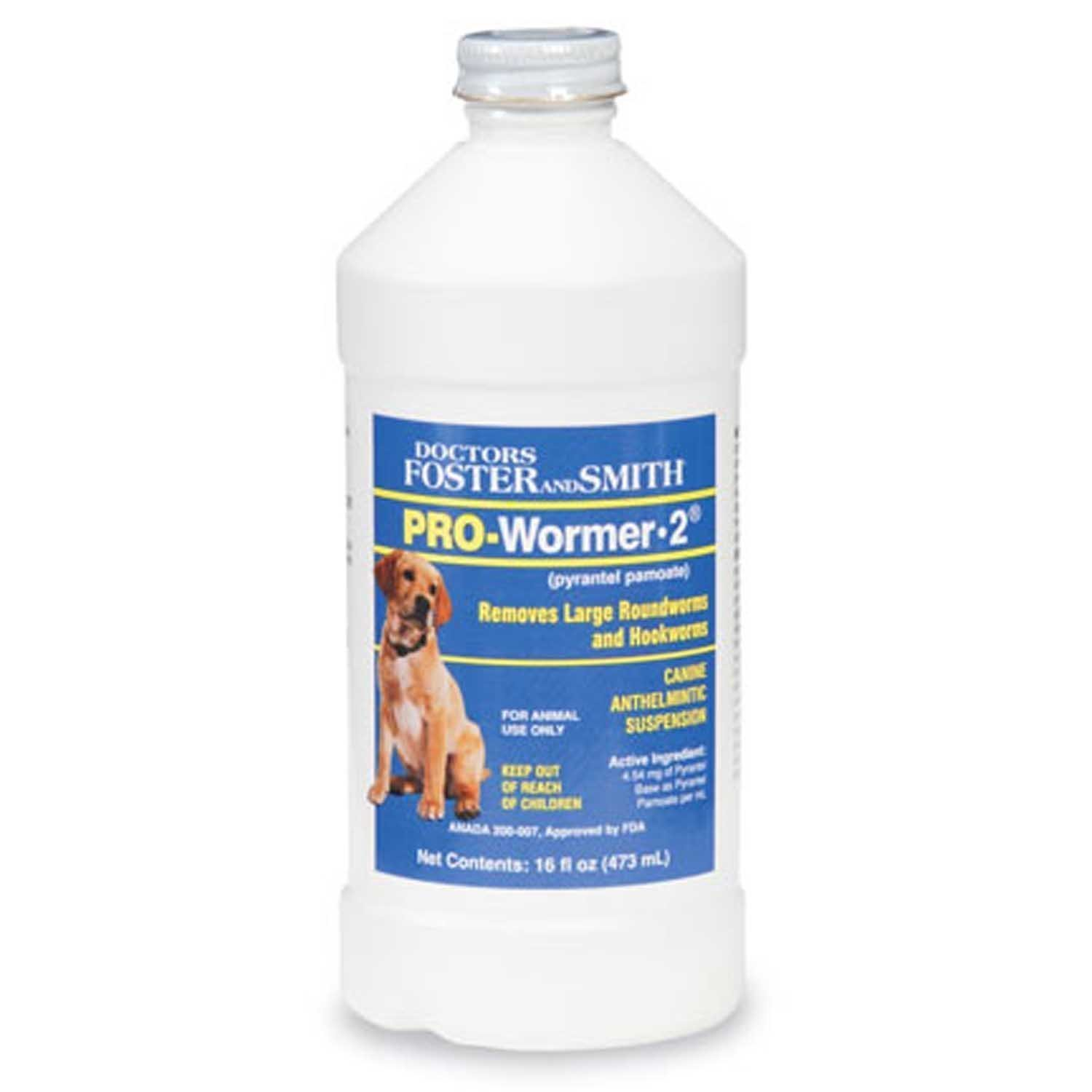 Doctors Foster + Smith Pro-Wormer Liquid dog Wormer 2x -16oz - 1 Pint - by Same active Ingredient as Nemex-2 (PYRANTEL PAMOATE)