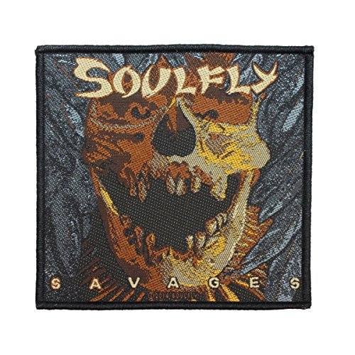 Soulfly Savages Metal Album Cover Art Band Merchandise Sew On Applique Patch by Mia_you