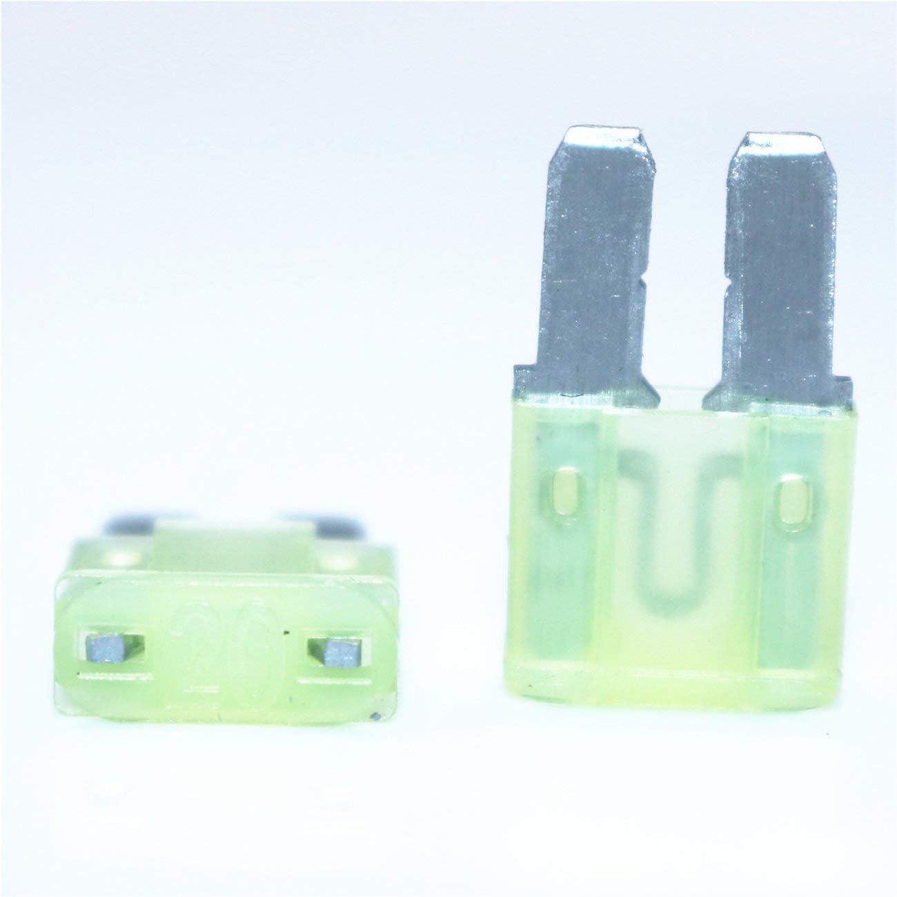 JIUY Micro2 ATR Automotive Fuses Assorted 10 pcs Lumision 5A 7.5A 10A 15A 20A Set Pak Auto Insurance Tablets colorful
