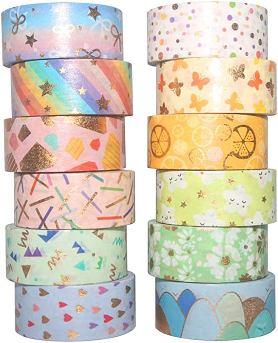 Artibetter 20 Rollos de Cintas Washi Cinta Adhesiva Decorativa Washi para Manualidades Diy Scrapbooking