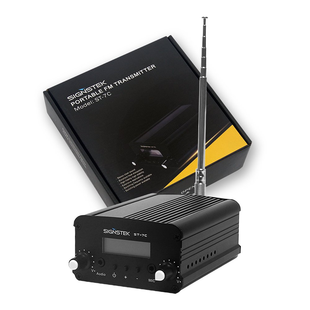 Signstek 7W 7C FM Transmitter Mini Radio Stereo Station PLL LCD with AntennaFashion Black by Signstek (Image #6)