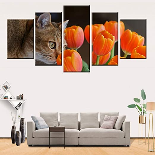 FJKYF 100×55cm 5 Paneles HD impresión Moderna decoración del ...