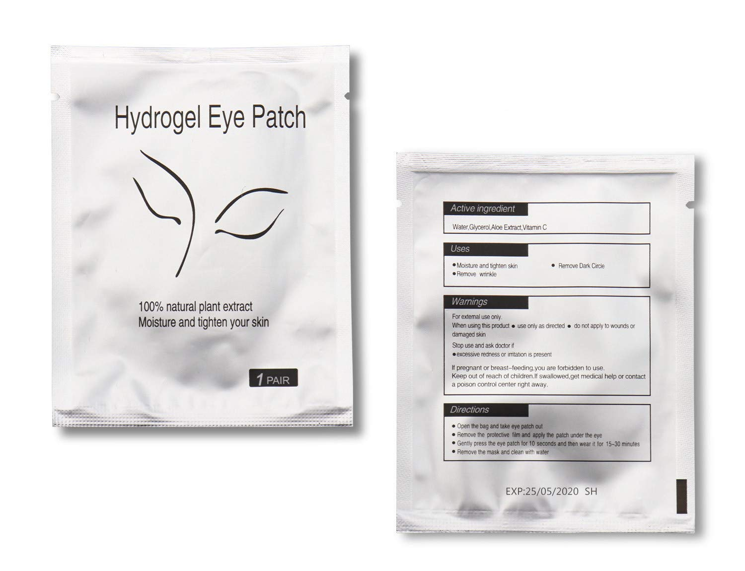Under Eye Pads, 100 Pairs Natural Gel Patches for Lash Extensions, Premium Eyelash Paper Tips Eyes Mask Makeup Tools