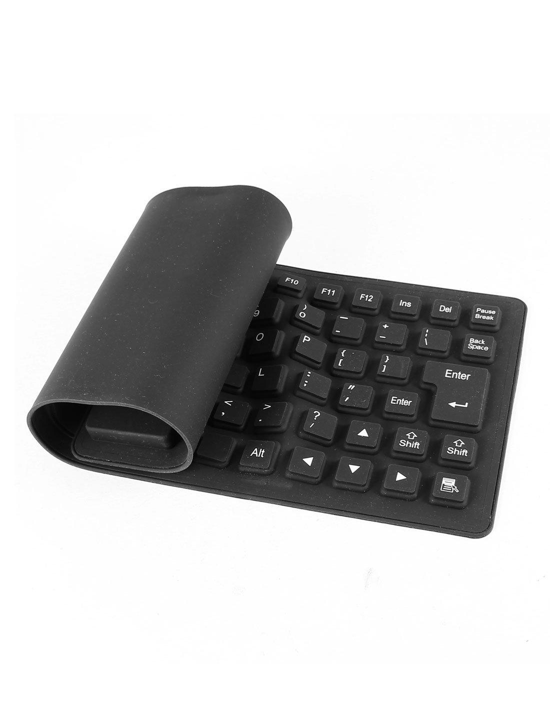 Amazon.com: Laváveis ??85 Chaves Arregace Silicone USB 2.0 Teclado flexível preto: Electronics
