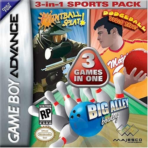 Dodge Ball/Bowling/Paintball 3-in-1 Sports Pack - Game Boy Advance