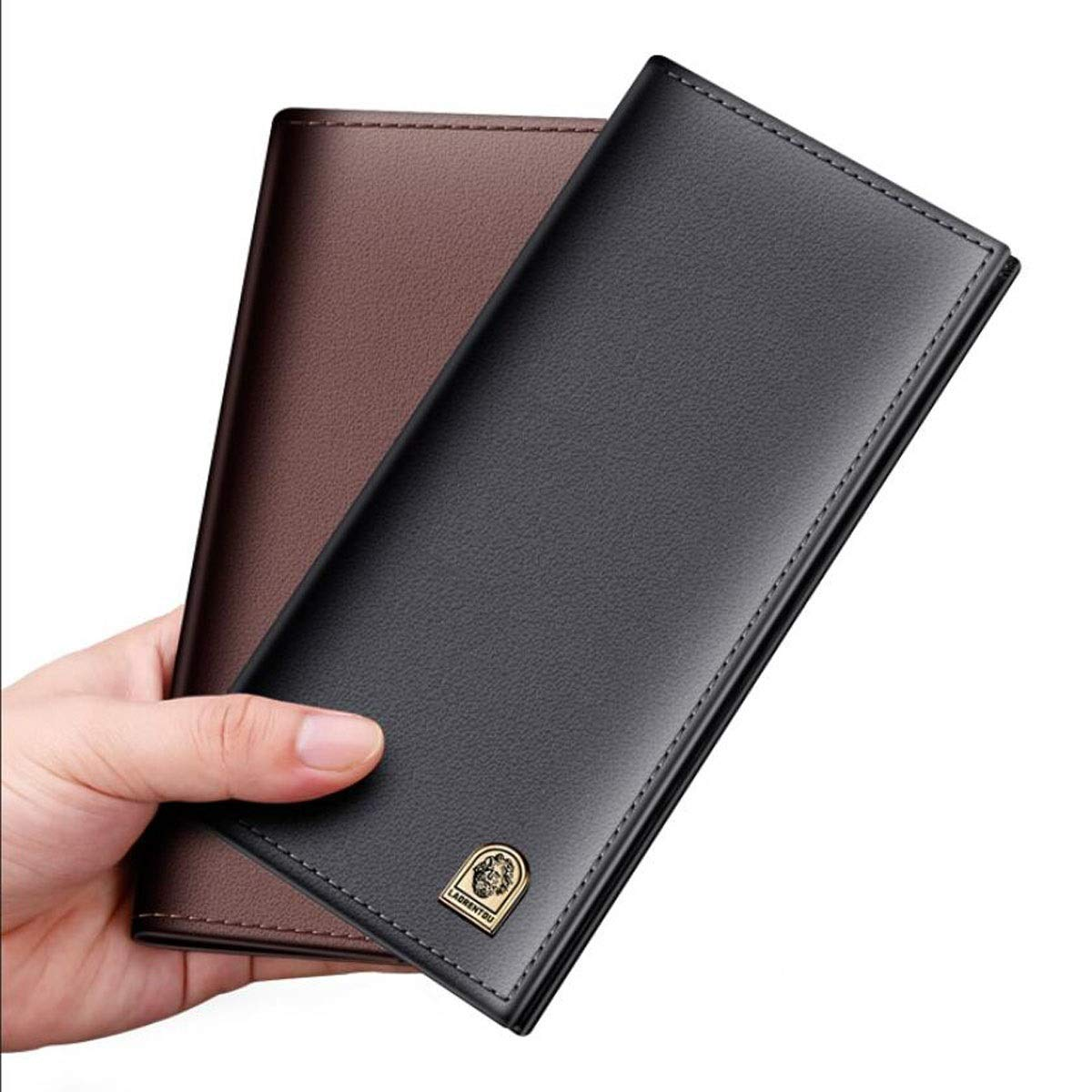 Color Size 19 1.8 9.3 Kalmar RFID Travel Wallet Suitable for Mens Long Casual Fashion Business Young Students Ultra-Thin Leather Wallet Black cm Stealth Mode Blocking Leather Wallet