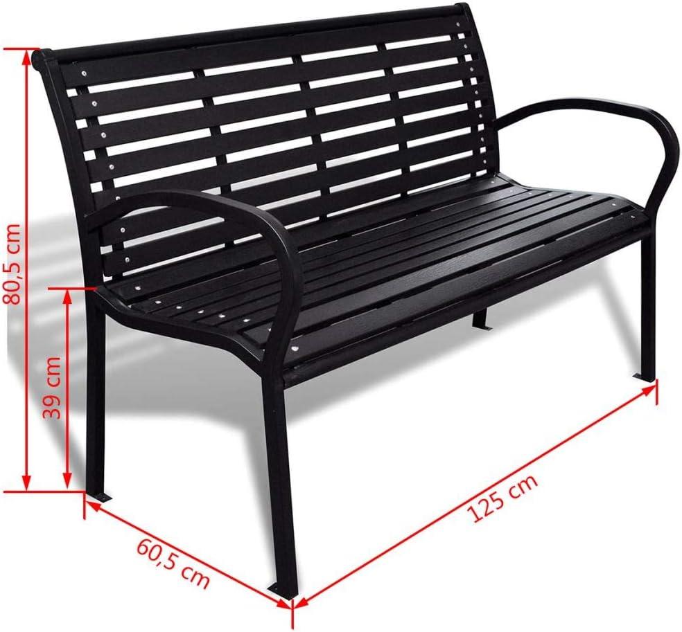 Daonanba Outdoor Bench Garden Furniture Patio Long Chair