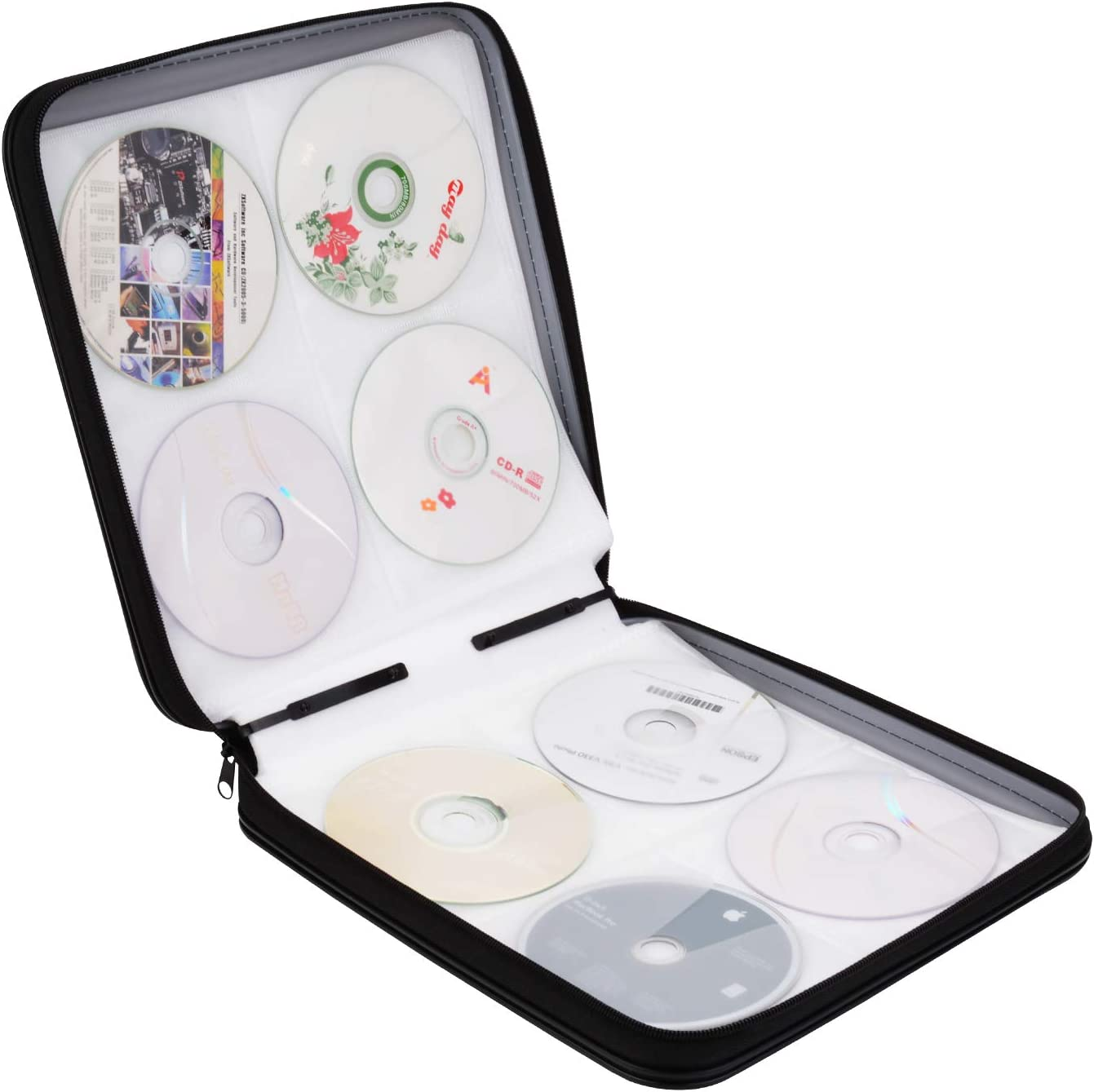 Bageek Pochette Cd Range Cd 160 Pcs Classeur Cd Pochette Dvd Range Dvd Classeur Dvd En Plastique Amazon Fr Informatique