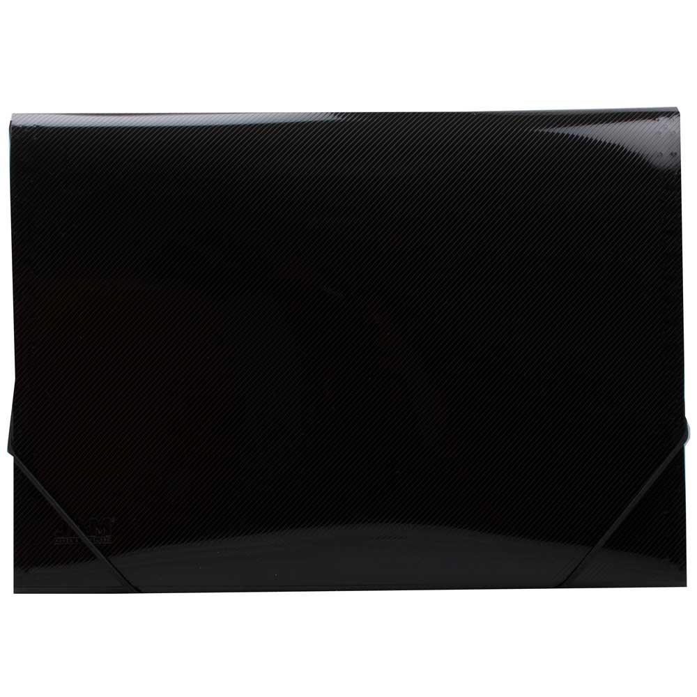 JAM Paper Plastic 13 Pocket Expanding File - Legal Size - 10'' x 15'' - Black - 24/pack