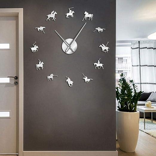 Juegos de Polo Sport Pony Match Wall Art DIY Reloj de Pared ...