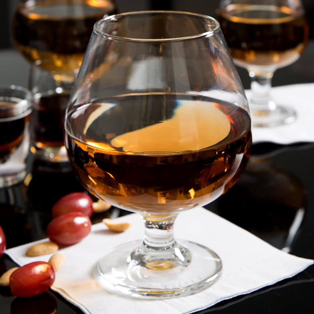 SET of 2, Libbey 3708 Embassy 17.5 oz Brandy Glass w/Signature Party Picks