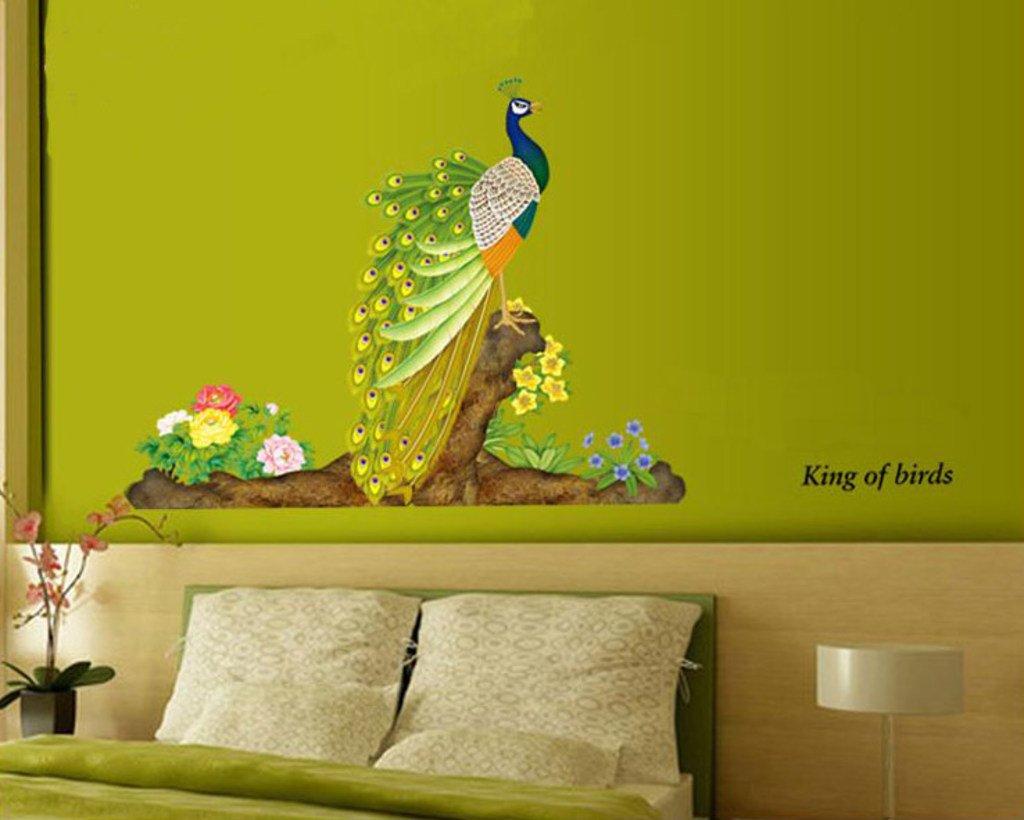 Buy Decals Design \'Peacock Bird\' Wall Sticker (PVC Vinyl, 60 cm x 90 ...