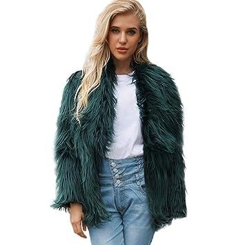 Moda damas otoño invierno abrigo elegante outwear, Sonnena ❤ Abrigo de piel sintética para mujer chaqueta de invierno cálido Invierno color sólido gran ...