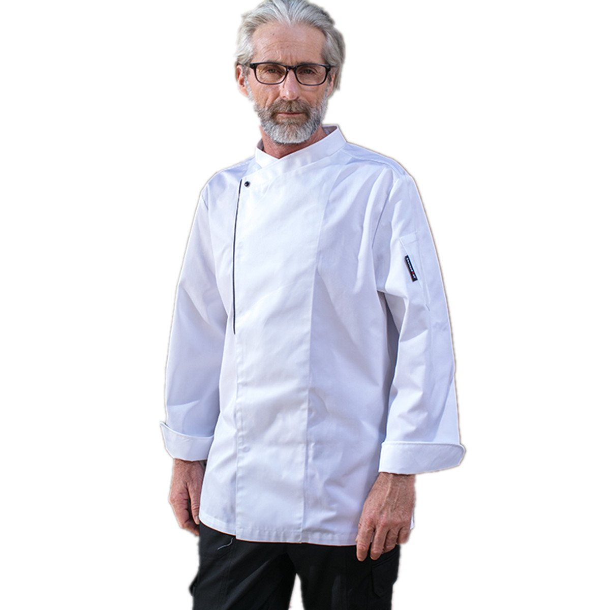 XINFU Chef Uniforms Unisex Long Sleeve Coat Catering Jackets 1 Pearl Button Chef Coat by XINFU