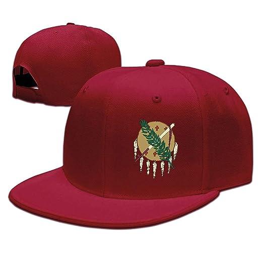 7db8782e84a Image Unavailable. Image not available for. Color  Oklahoma Flag Element  Design Solid Flat Bill Hip Hop Snapback Baseball Cap Unisex Sunbonnet Hat.