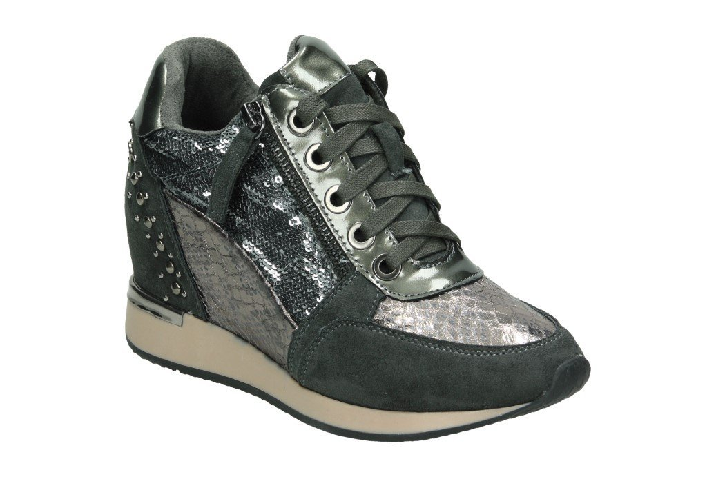 XTI 48262, Zapatillas Altas para Mujer 37 EU|Gris (Grey)